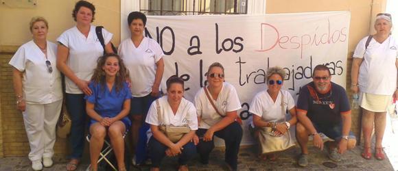 Trabajadoras del Centro de mayores de Morón contra los despidos