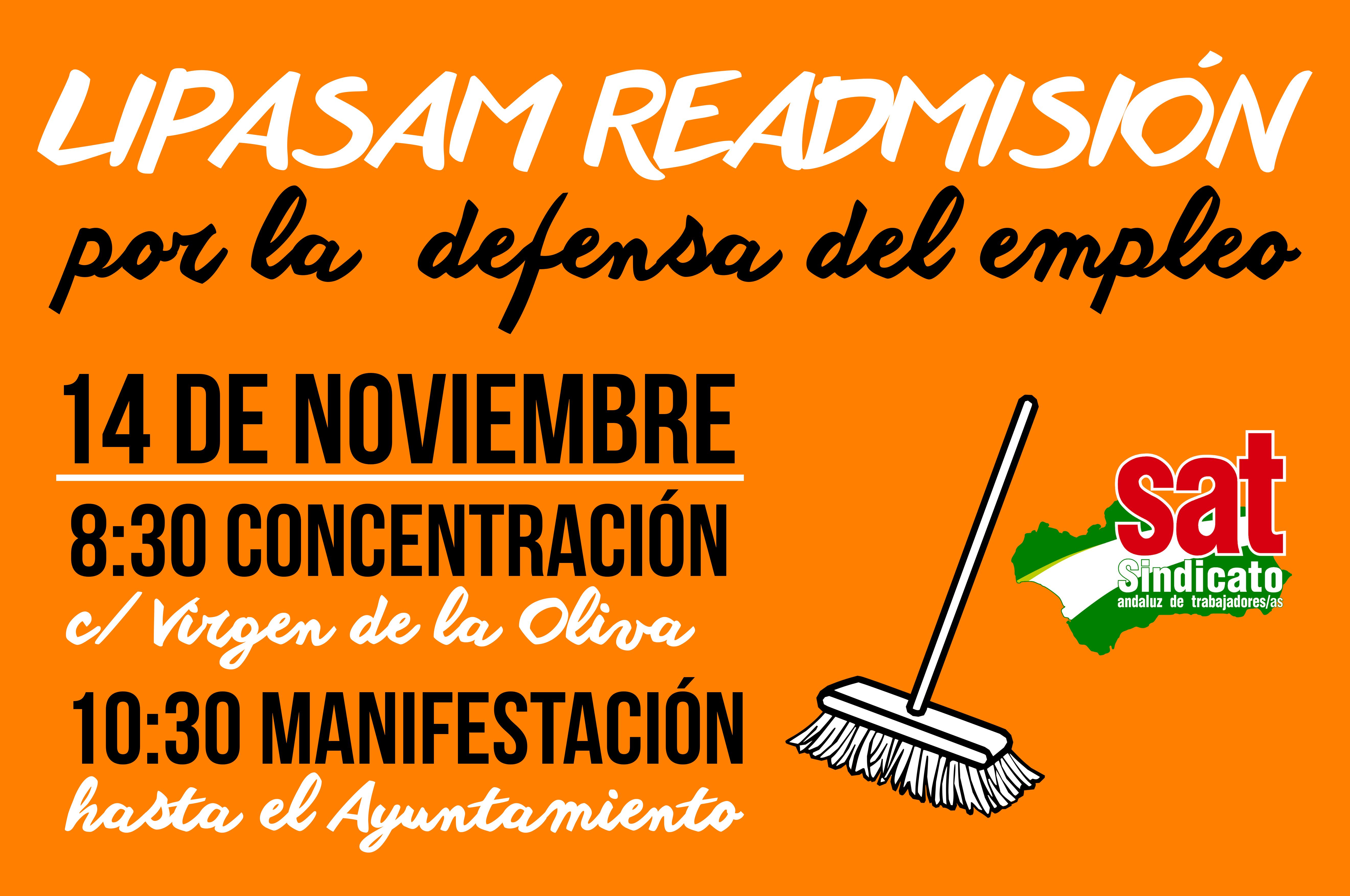 Manifestación LIPASAM